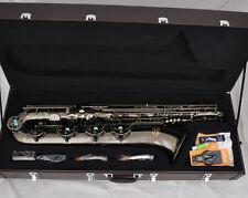 Professional TaiShan Antique Eb Baritone Saxophone Low A High F# Sax 2 Necks New