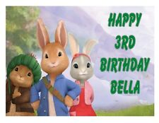 Peter Rabbit edible party cake topper decoration frosting sheet