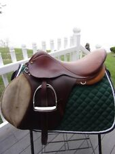 """18"""" COLLEGIATE A/P English Saddle  WITH LEATHERS & IRONS NARROW TREE"""