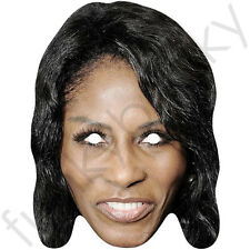 Sinitta 1980's Celebrity Card Mask - All Our Masks Are Pre-Cut!