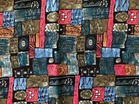 """Sheryl Roy Abstract Fabric SSI Tribal Design Quilting Sewing Crafts 28 x 41"""""""