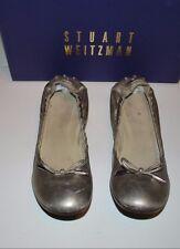 Beautiful Designer STUART WEITZMAN Ladies Gold Ballet Style Shoes 7 SPAIN