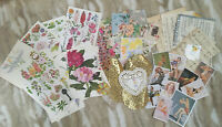 50 Piece Romantic Pin Up EPHEMERA LOT Collage Art Journal