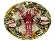 c1860 Portugal Palissy Majolica Lobster Wall Hanging Dish