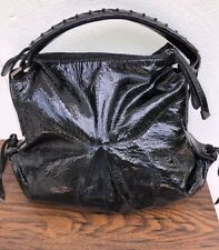 f8c6b8389bbb FRANCESCO BIASIA WOMEN S HOBO BAG BLACK PATENT LEATHER HANDBAG