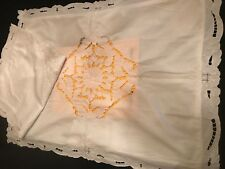 FAB! Pair Bella Continental Handmade Eyelet Embroidery Euro & STD Pillow Shams