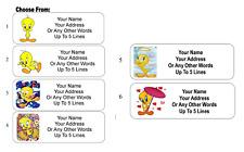 30 Tweety Bird Personalized Address Labels