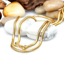 30'' Long 3mm Gold Stainless steel Round Snake Chain Necklace In Men's Jewelry