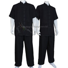 Summer Tai chi Uniform Kung fu Martial arts Wing Chun Suit Soft Cotton Blends
