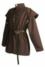 MEDIEVAL CELTIC VIKING Brown Tunic With Surcoat Renaissance Theater
