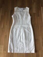 Strenesse Kleid Gabriele Strehle Schurwolle Creme Weiss Größe 38
