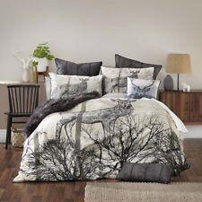 Bianca Alpine Deer Black Duvet Doona Quilt Cover Set King Bed Size