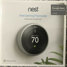 NEW Nest Learning Thermostat T3007ES-Stainless Steel-Alexa Enabled
