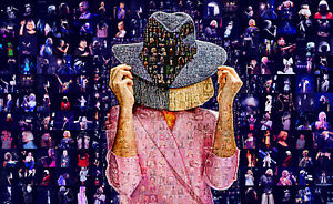 LARGE ORIGINAL MOSAIC PHOTO POSTER IN VARIOUS COLOURS OF SIA FURLER No 2A