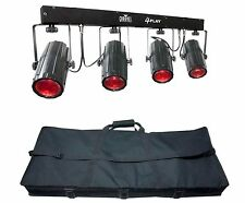 NEW! CHAUVET 4PLAY LED DMX Moonflower Novelty Light Beam Bar System +Travel Bag