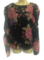 MONSOON-JOANNA VELVET PRINT TOP (BRAND NEW WITH TAGS) - SIZE 16 -RRP £79