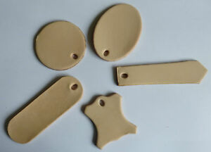LEATHER PYROGRAPHY/EMBOSSING/KEY RING/GIFT TAG/BLANKS - 10 ASST OR SAME DESIGN