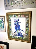 Abstract, Modern Wall Art, Framed Outsider Unique Art Signed Direct From Artist