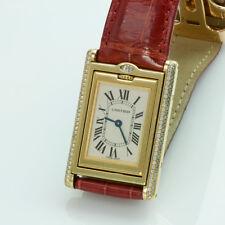 Cartier Tank Basculante 18K Gold and Diamond Watch 2506