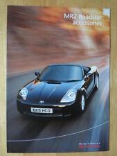 TOYOTA MR2 Accessories 2000 UK Market brochure prospekt