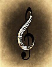 METAL REFRIGERATOR MAGNET Music Clef Piano Keys Musical Instrument