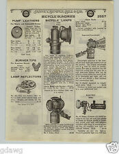 1924 PAPER AD Solar Gas Searchlight Delta Bicycle Light Headlight Searchlight