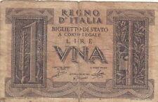 BANCONOTA Lire 1 Imperiale VITT. EMAN. III 14/11/39 Circolata Vedi Foto