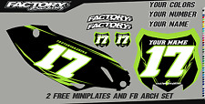 Kawasaki KXF450 13-15 Pre Printed Number plate Backgrounds BOLT SERIES