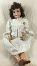 """28"""" 1916 Bergmann Waltershausen doll bisque head composition body german"""