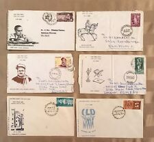 India postage stamps lot of 6 old First Day Covers 60's 1966-1969