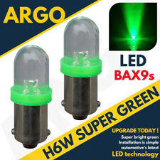 2X H6W BAX9S 433 434 LED GREEN SIDELIGHT LAMP BULBS XENON BEAM UPGRADE HEADLIGHT