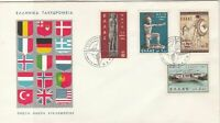 Greece 1962 Multiple Flags Picture Star Slogan Cancels 4x Stamps Cover Ref 27437