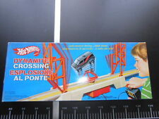 Hot wheels ESPLOSIONE AL PONTE A-team Van dynamite crossing Pista Mattel Vintage