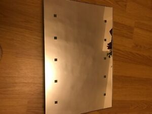 Wall Mounted LED Bathroom Mirror 12 inches x 17.5 inches
