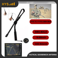 Tactical Gooseneck SMA-Male 2Meter 70CM Antenna For Yaesu Wouxun TYT 2-way Radio