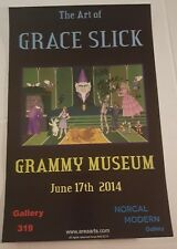 Grace Slick Poster Autographed 6-17-14 Jefferson Airplane Starship Marty Balin