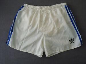 ADIDAS Glanz Nylon Shorts Sporthose D7 Sampdoria Laufhose Retro weiß