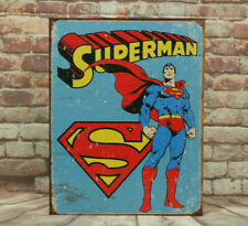 Superman Retro Metal Sign for Man Cave, Garage or Bar Made in America