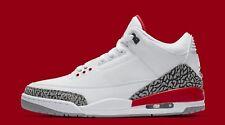 Nike Air Jordan III 3 Retro Katrina White Red Cement size 10. 136064-116.