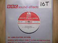 "BBC Sound Effects 7"" Record - Ready Mixed Cement, Lorries, Klaxon Warning, 1971"