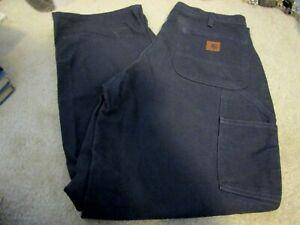 Worn/Used CARHARTT WORK PANTS 34 X30 Dark Gray Dungaree Jeans  Original Fit