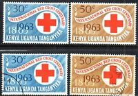 1963 KUT Sg 205/206 Centenary of Red Cross Mounted Mint/Fine Used
