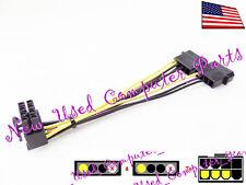 ➨ [11mm] Dual 4-Pin Molex to 90 Degree 8-Pin PCI-E Low Profile GPU Cable Adapter