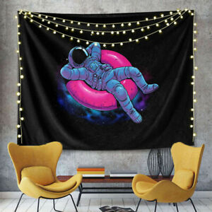 Astronaut Space Tapestry Wall Hanging Funny Fantasy Tapestry For Bedroom Decor