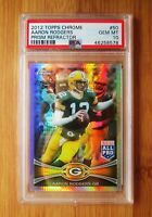 2012 Topps Chrome Prism /216 Refractor #50 AARON ROGERS - PSA 10 GEM MINT