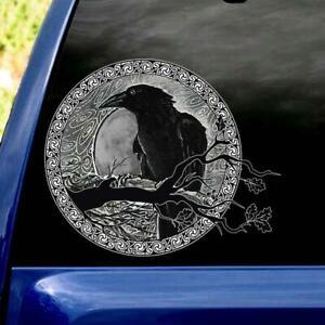 Raven Black Viking Sticker Decal