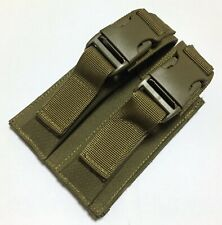 New Tactical Molle Double Stack Pistol Mag Pouch Holster With Buckle Tan