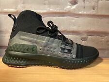 UA Project Rock 1 Black Gum Green Under Armour Shoes 3020788-002 Men's Size 9
