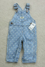 NEW VINTAGE Oshkosh Bgosh Overalls Toddler 6 Months Blue...