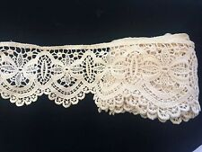 """Beautiful Antique Ecru Lace Never Used 4 3/4� Wide X 202"""" Long 5+ Yards"""